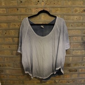 Free People Ombre Blue Tee